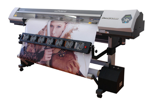Winders and fan row for large format digital printers